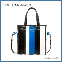 BALENCIAGA BAZAR Stripes Lambskin Shoulder Bags