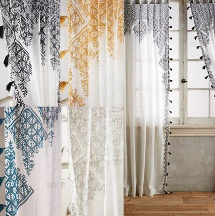 Ansolo style curtain 244 cm length 1 piece or 2 piece set