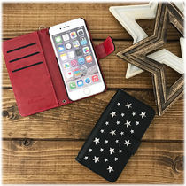 Star Faux Fur Tassel Studded Smart Phone Cases