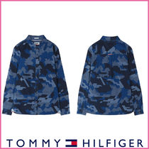 Tommy Hilfiger Camouflage Long Sleeves Cotton Shirts