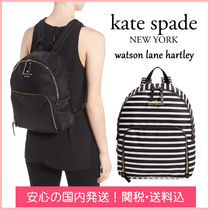 kate spade new york Stripes Casual Style Nylon Plain Backpacks