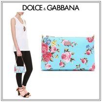 Dolce & Gabbana Flower Patterns 2WAY Chain Party Style Clutches