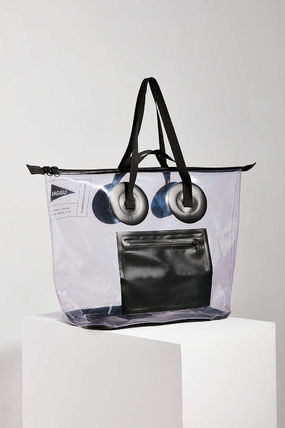 Casual Style Street Style A4 Plain Crystal Clear Bags