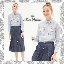 Miss Patina Long Sleeves Other Animal Patterns Cotton Shirts & Blouses