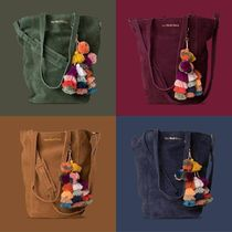 The Wolf Gang Suede 2WAY Plain Totes