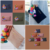 The Wolf Gang Suede Tassel Plain Clutches