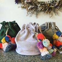 The Wolf Gang Suede Tassel Plain Purses Totes