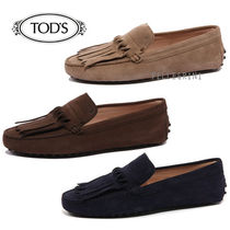 TOD'S Plain Leather Loafer Pumps & Mules