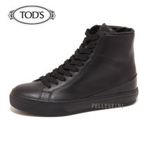 TOD'S Lace-up Casual Style Plain Leather Platform & Wedge Sneakers