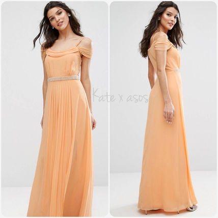 ASOS Maxi Plain Long With Jewels Party Dresses