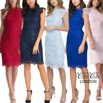 Chi Chi London Tight Medium High-Neck Party Dresses
