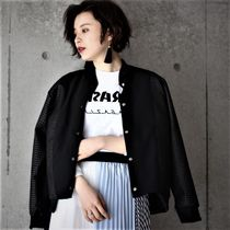 Faux Fur Street Style Plain Medium MA-1 Bomber Jackets