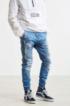 Denim Street Style Plain Joggers Jeans & Denim