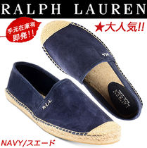 Ralph Lauren Platform Suede Plain Elegant Style Lace-Up Shoes