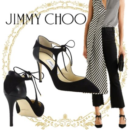 Jimmy Choo Suede Plain Pin Heels Office Style Stiletto Pumps & Mules
