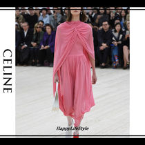CELINE Flared Plain Party Style Dresses