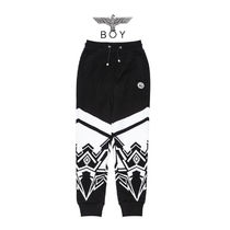 BOY LONDON Printed Pants Street Style Other Animal Patterns Cotton