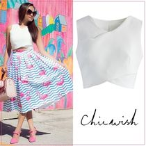 Chicwish Short Sleeveless Plain Tanks & Camisoles