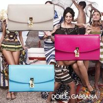 Dolce & Gabbana 2WAY Chain Leather Party Style Clutches