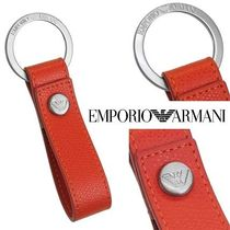 EMPORIO ARMANI Plain Leather Keychains & Holders