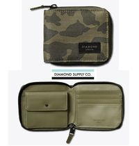 Diamond Supply Co Camouflage Street Style Collaboration Folding Wallets