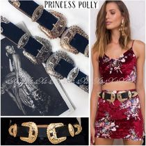 Polly the label Flower Patterns Faux Fur Party Style Belts