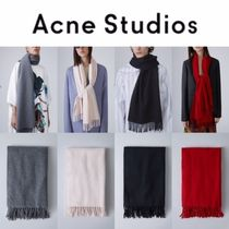 Acne Casual Style Unisex Wool Plain Lightweight Scarves & Shawls