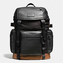 Coach Camouflage A4 Bi-color Leather Backpacks