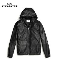 Coach Short Plain Leather Coach Jackets Coach Jackets