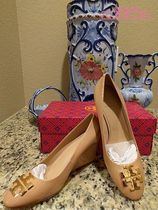 Tory Burch Enamel Wedge Pumps & Mules