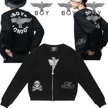 BOY LONDON Short Studded Plain Bomber Jackets