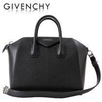 GIVENCHY ANTIGONA Plain Leather Elegant Style Totes