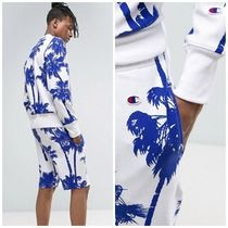 CHAMPION Printed Pants Tropical Patterns Street Style Cotton Shorts