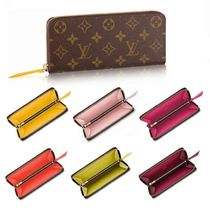 Louis Vuitton CLEMENCE Monoglam Leather Long Wallets