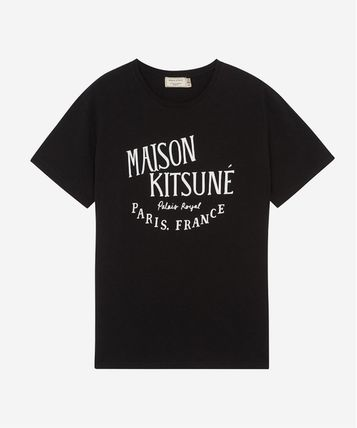 MAISON KITSUNE Crew Neck Crew Neck Unisex Cotton Short Sleeves Designers