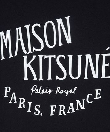 MAISON KITSUNE Crew Neck Crew Neck Unisex Cotton Short Sleeves Designers 3