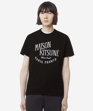 MAISON KITSUNE Crew Neck Crew Neck Unisex Cotton Short Sleeves Designers 4