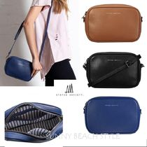 STATUS ANXIETY Plain Leather Shoulder Bags