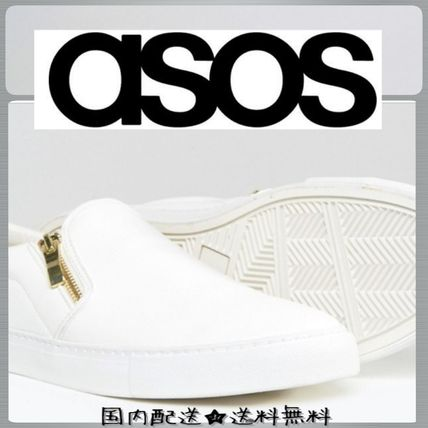 Primusall White with Zip Slip-on Men ' s