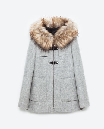 A-line duffle coat big fur DUFFLE COAT