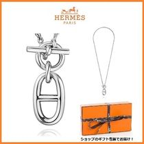 HERMES Kelly Silver Elegant Style Necklaces & Pendants