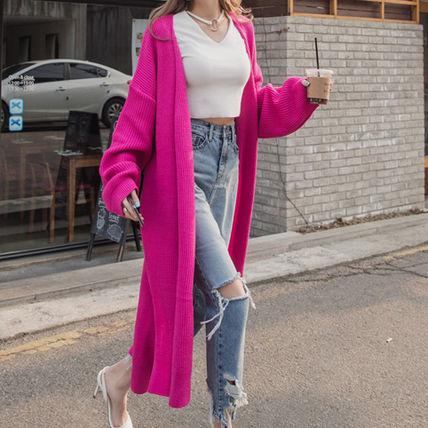 Loose silhouette Daily Long cardigan
