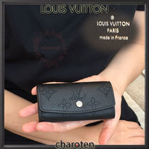Louis Vuitton MAHINA Monogram Unisex Calfskin Plain Keychains & Holders