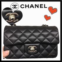 CHANEL MATELASSE Lambskin 2WAY Chain Plain Party Style Shoulder Bags