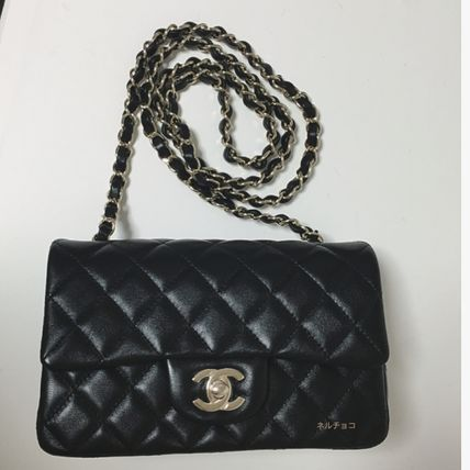CHANEL Shoulder Bags Lambskin 2WAY Chain Plain Party Style Shoulder Bags 2