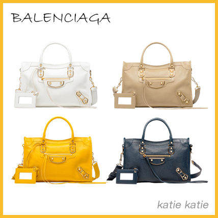 Classic Metallic Edge S Handbag (Jaune/Sable/Bleu)