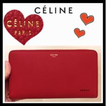 CELINE Classic Unisex Calfskin Plain Long Wallets