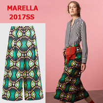 MARELLA Tropical Patterns Casual Style Cotton