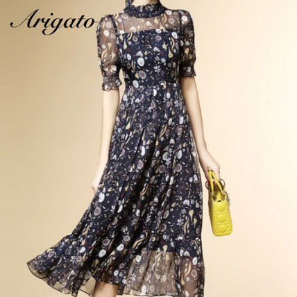 Wedding dress adult cool floral see-through chic dress