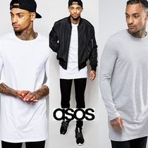 ASOS Crew Neck Pullovers Street Style Long Sleeves Cotton
